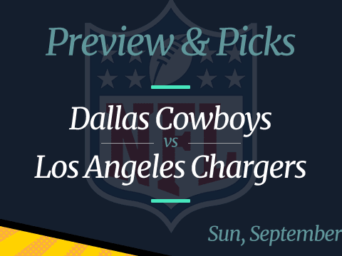 NFL Week 2: Cowboys vs Chargers, Time, Odds