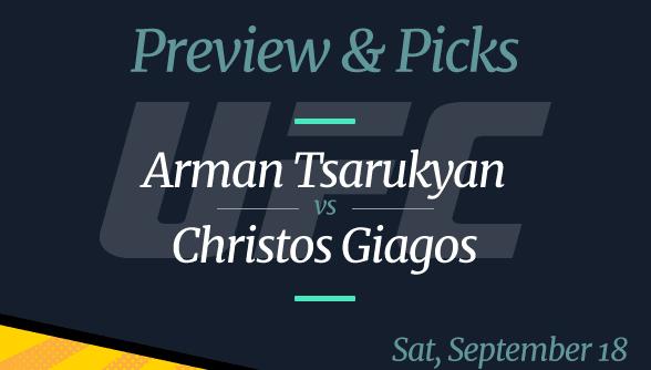 Arman Tsarukyan vs Christos Giagos Odds, Time, Where to Watch, and Pick