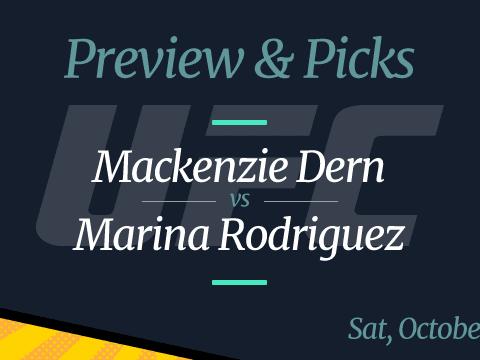 UFC Vegas 39 Mackenzie Dern vs Marina Rodriguez Odds, Picks, and Preview